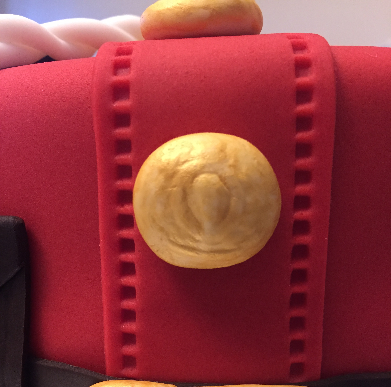 Red Serge Button