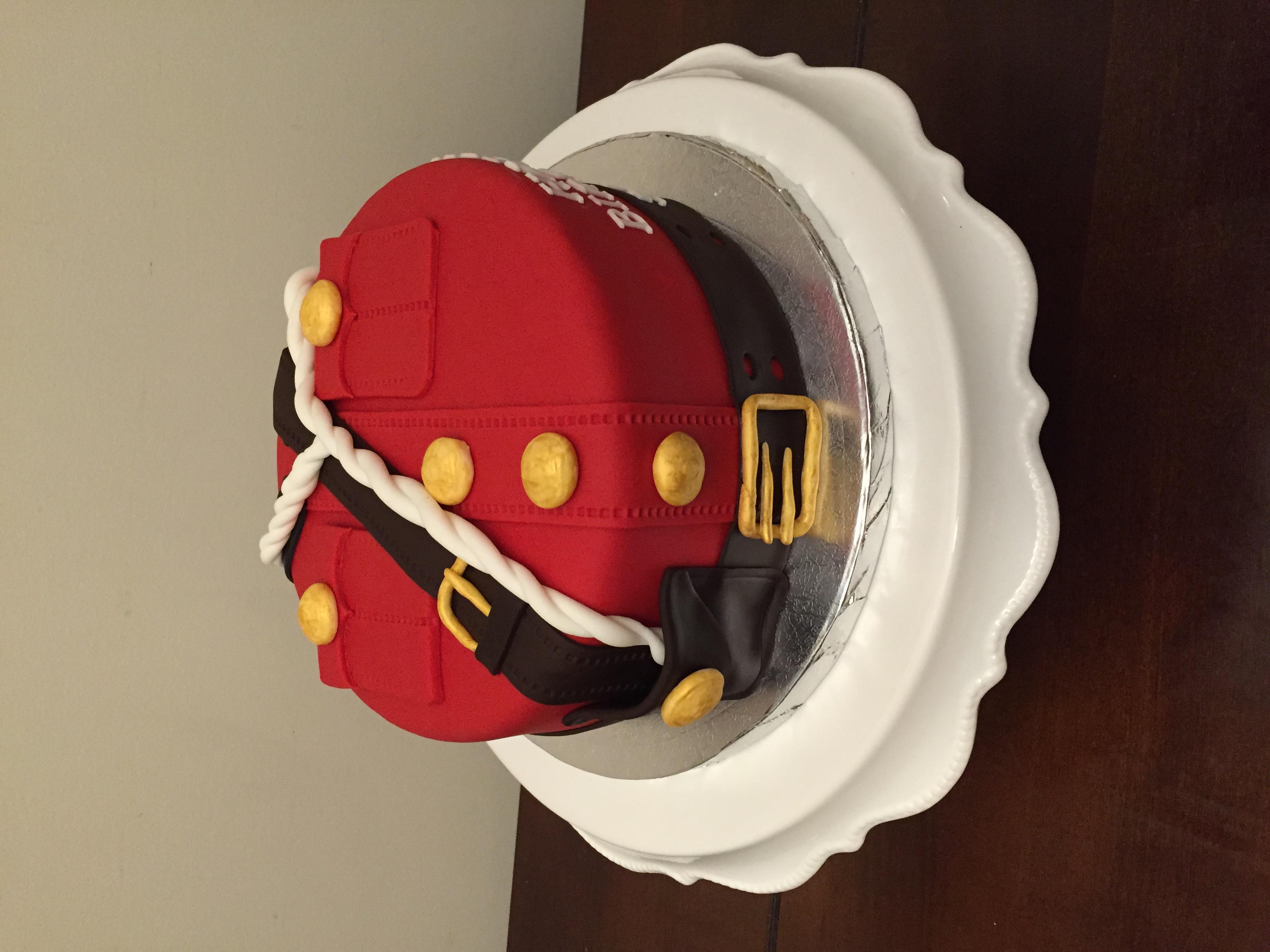 RCMP Red Serge Cake