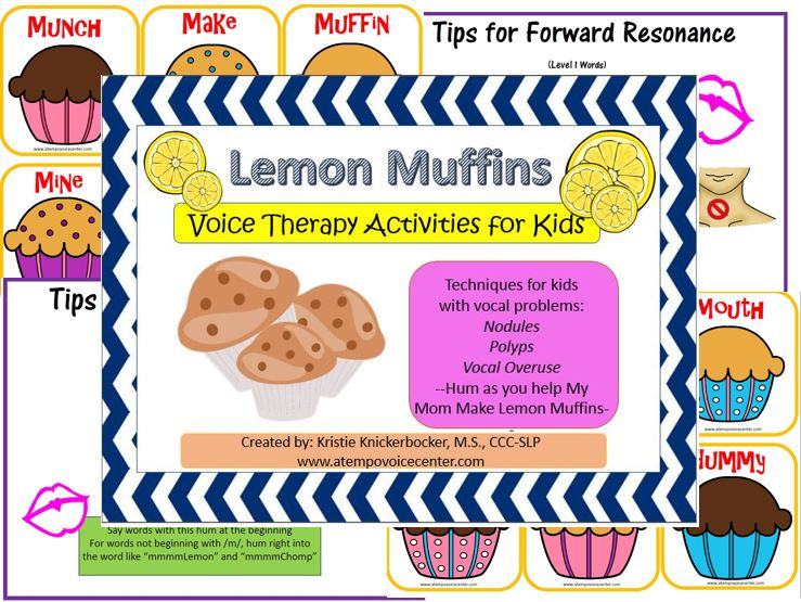 Lemon Muffins for Voice Therapy helps with LMRVT techniques for more home practice