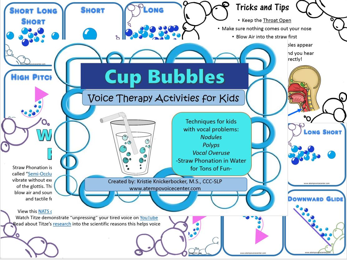 Introducing  Cup Bubbles to help make semi-occluded vocal tract exercises fun!