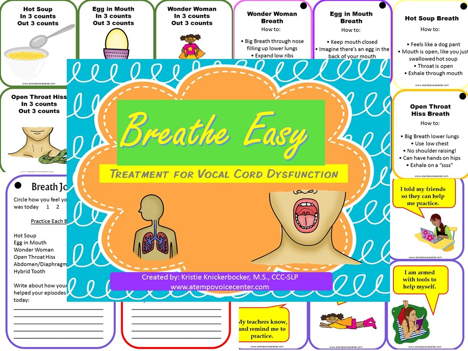 New to the scene is a treatment packet specifically for Vocal Cord Dysfunction: Breathe Easy