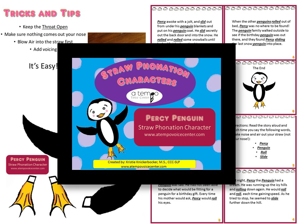 Add  Percy Penguin  to your teaching resources for optimal vocal health