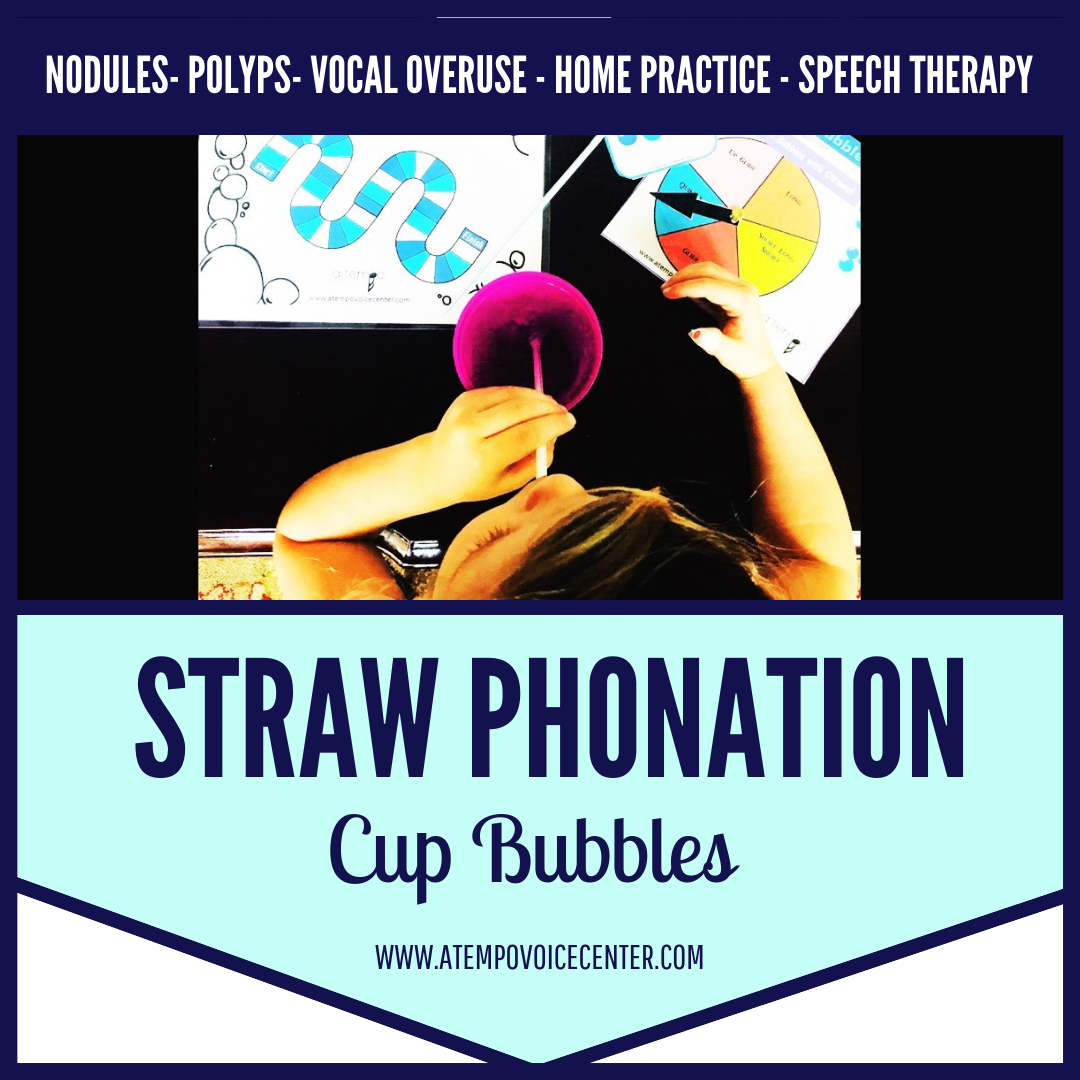 Bubbles in a Cup for introducing Semi-occluded vocal tract exercises.