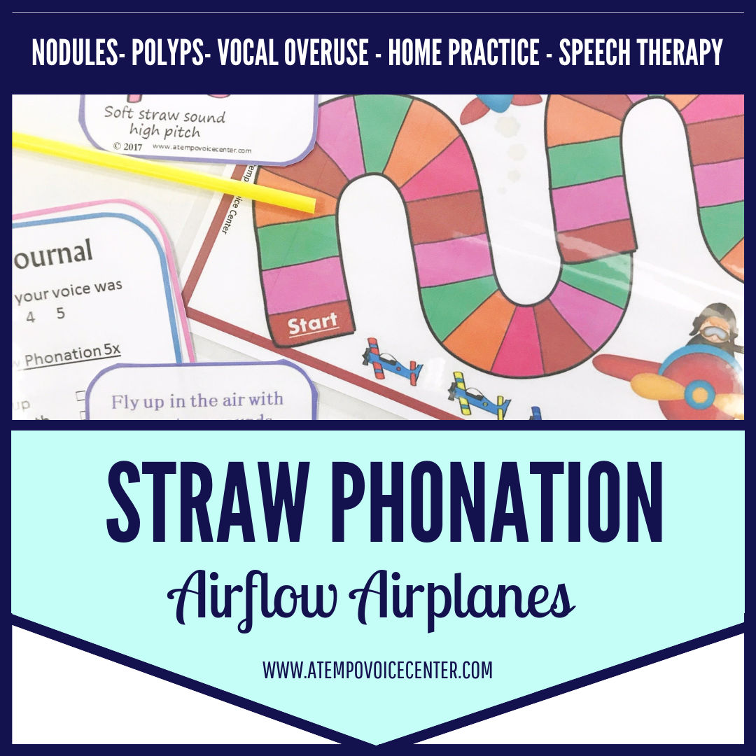 Fly your airplanes with straw phonation