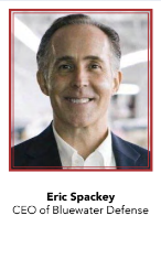 Eric Spackey, CEO of Bluewater Defense apparel manufacturing