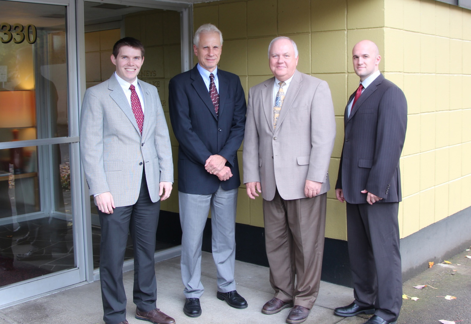 Attorneys | McMinnville, OR  | Lake, Hart & Cooper| Brian Branch, Jerry Hart, Brent Lake and Joshua Cooper.