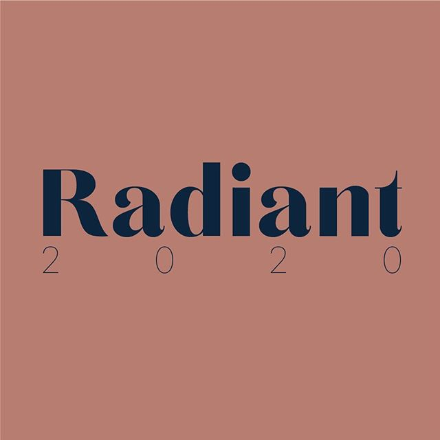 Get ready ladies, we're talking 2020 THIS WEEKEND.  #Radiant2020 GET EXCITED. 🤩🙌🏻✨
