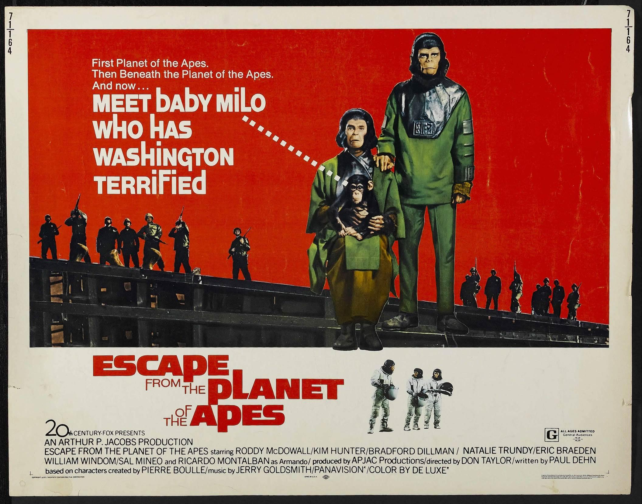 Onesheet for  Escape From The Planet of the Apes  (1971)