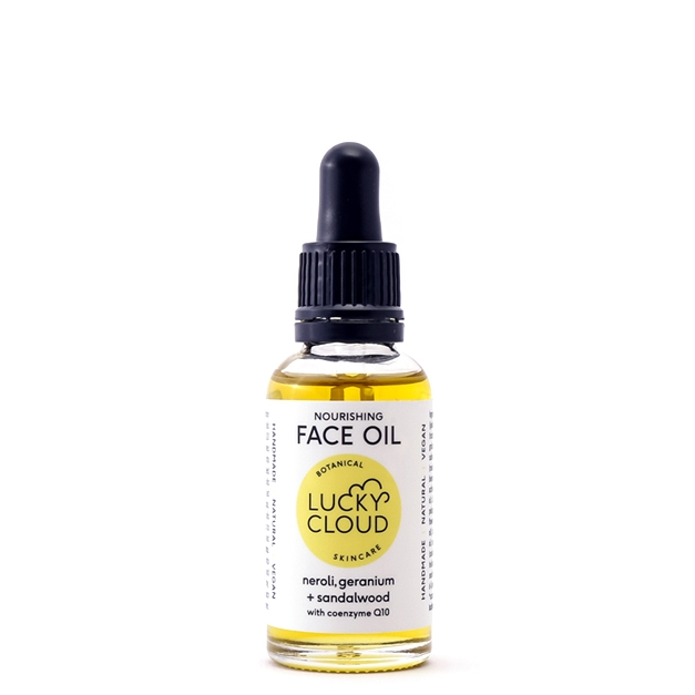 Nourishing Face Oil with Coenzyme Q10 by Lucky Cloud Skincare. Vegan Friendly and Cruelty Free Skincare