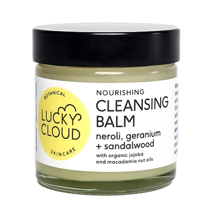 Nourishing Cleansing Balm with Organic Jojoba and Macadamia Nut Oil  by Lucky Cloud Skincare. Vegan Friendly and Cruelty Free Skincare