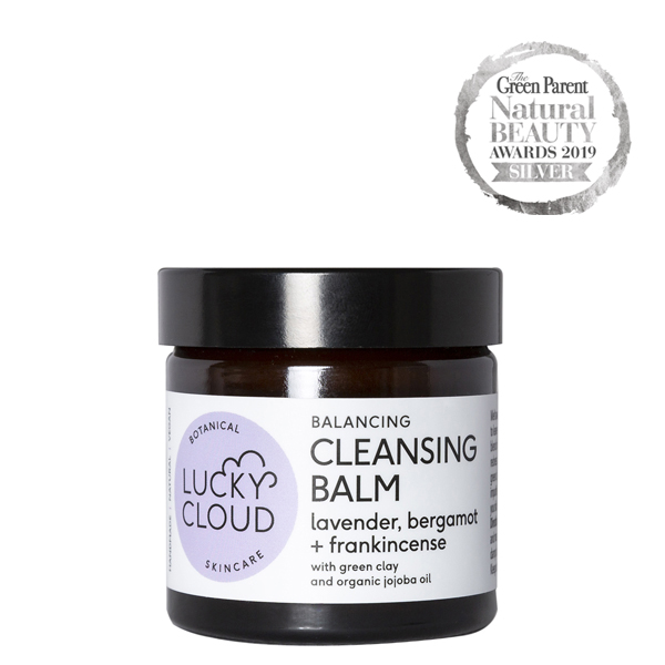 Lucky Cloud Skincare Balancing Cleansing Balm with organic jojoba oil, green clay and grapeseed oil
