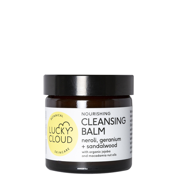 Lucky Cloud Skincare Nourishing Cleansing Balm with organic jojoba and macadamia nut oil