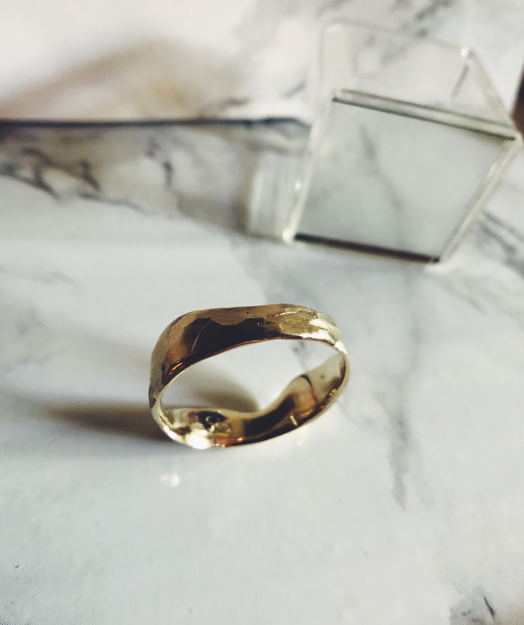 Recycled 14k Gold wedding band