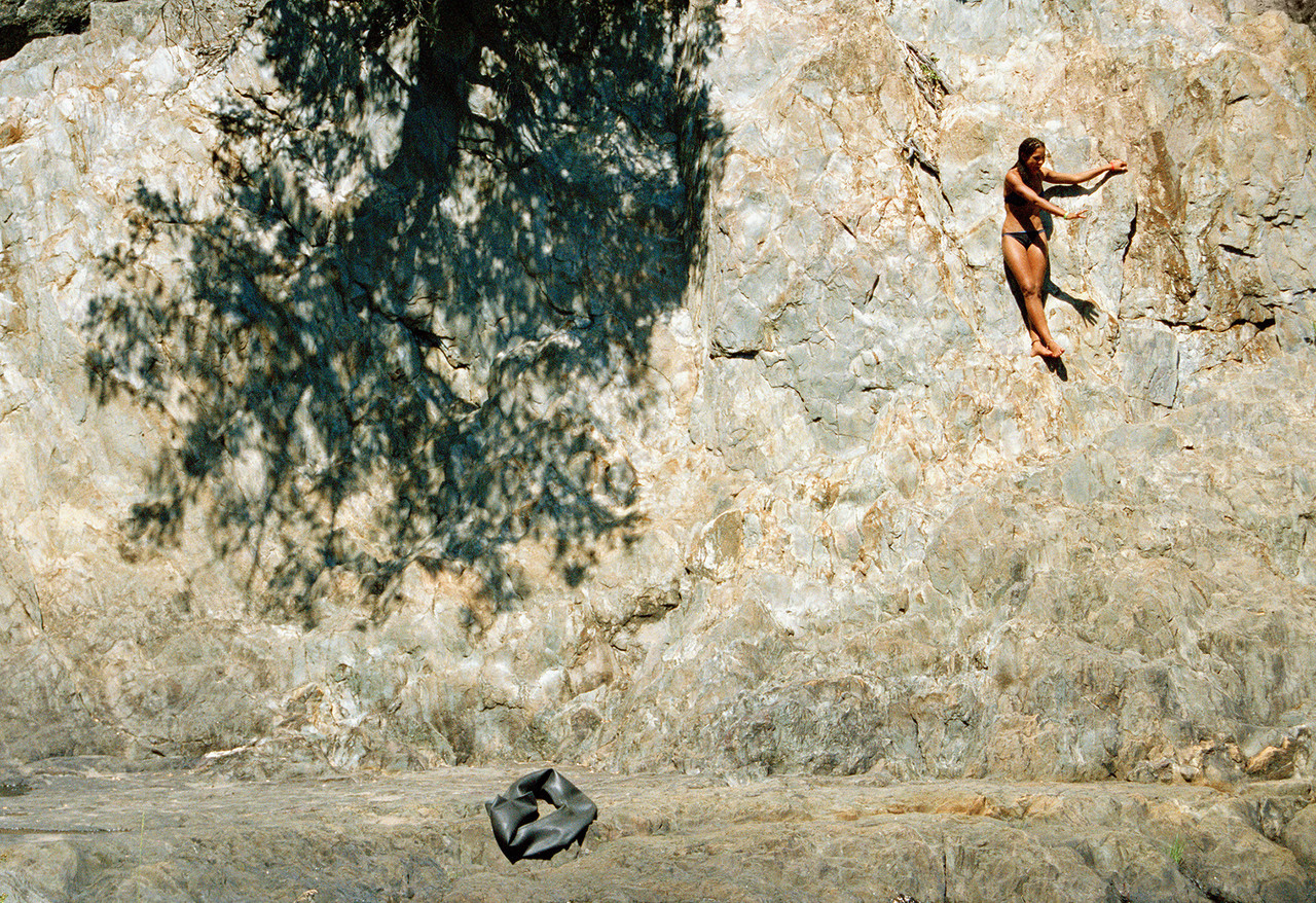 The rock wall  by Ashley Valmere Fischer, 2006; inkjet print on archival paper