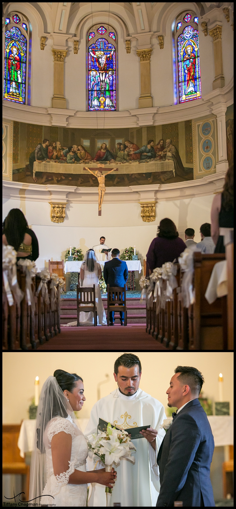 This church, the ceremony, that dress, that tux....so beautiful!