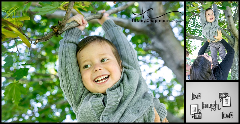 Henry playing Monkey in the tree! I adore his smile!!