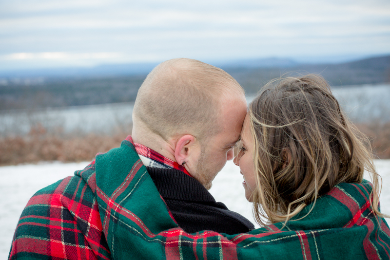 It got really cold fast and these two snuggled so sweetly on the bench overlooking the gorgeous Quabbin Reservoir.