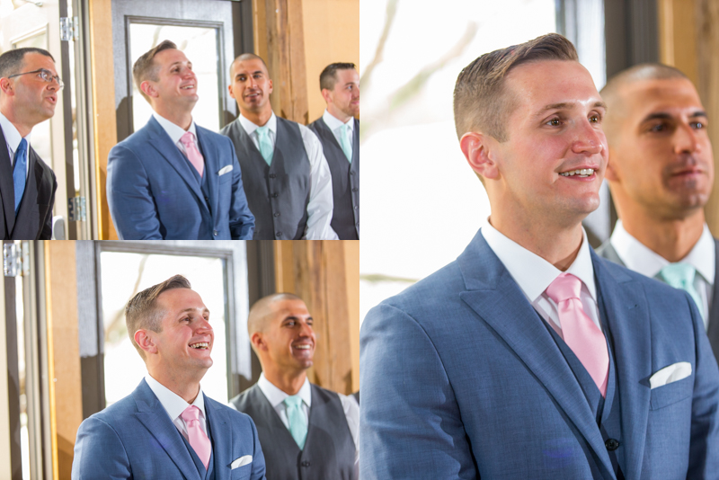 Ben's reaction to seeing Trina for the first time as she walks down the isle! Absolute LOVE in his face.
