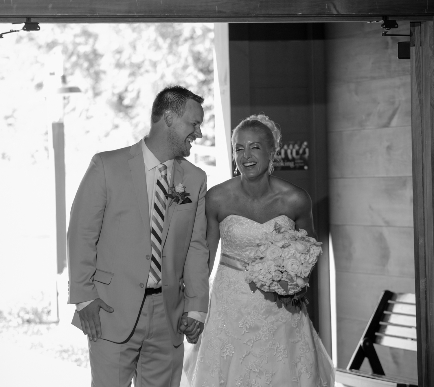 Thank you Jessica of Jessica Marie Photography for this adorable moment before their announcement into their reception.
