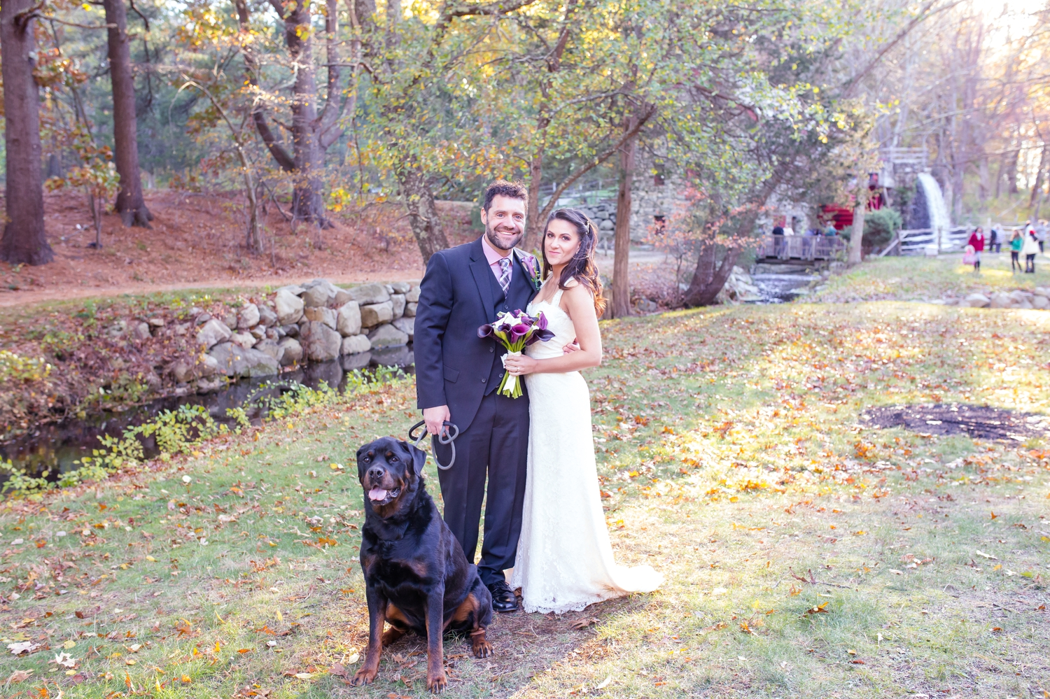 I loved that they brought their awesome dog Dino to their Ceremony and posed with them!!! Such a lucky dog!!