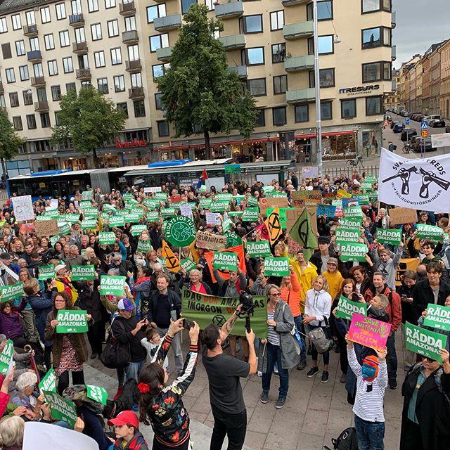 Fundraising Byrån deltog idag i manifestationen för Amazonas på Brasiliens nationaldag. 💪💚 @amazonwatchsverige Stöd urfolken. Skydda regnskogen. #amazonforest #amazonas  #odenplan #manifestation #demonstration  #demonstrationståg