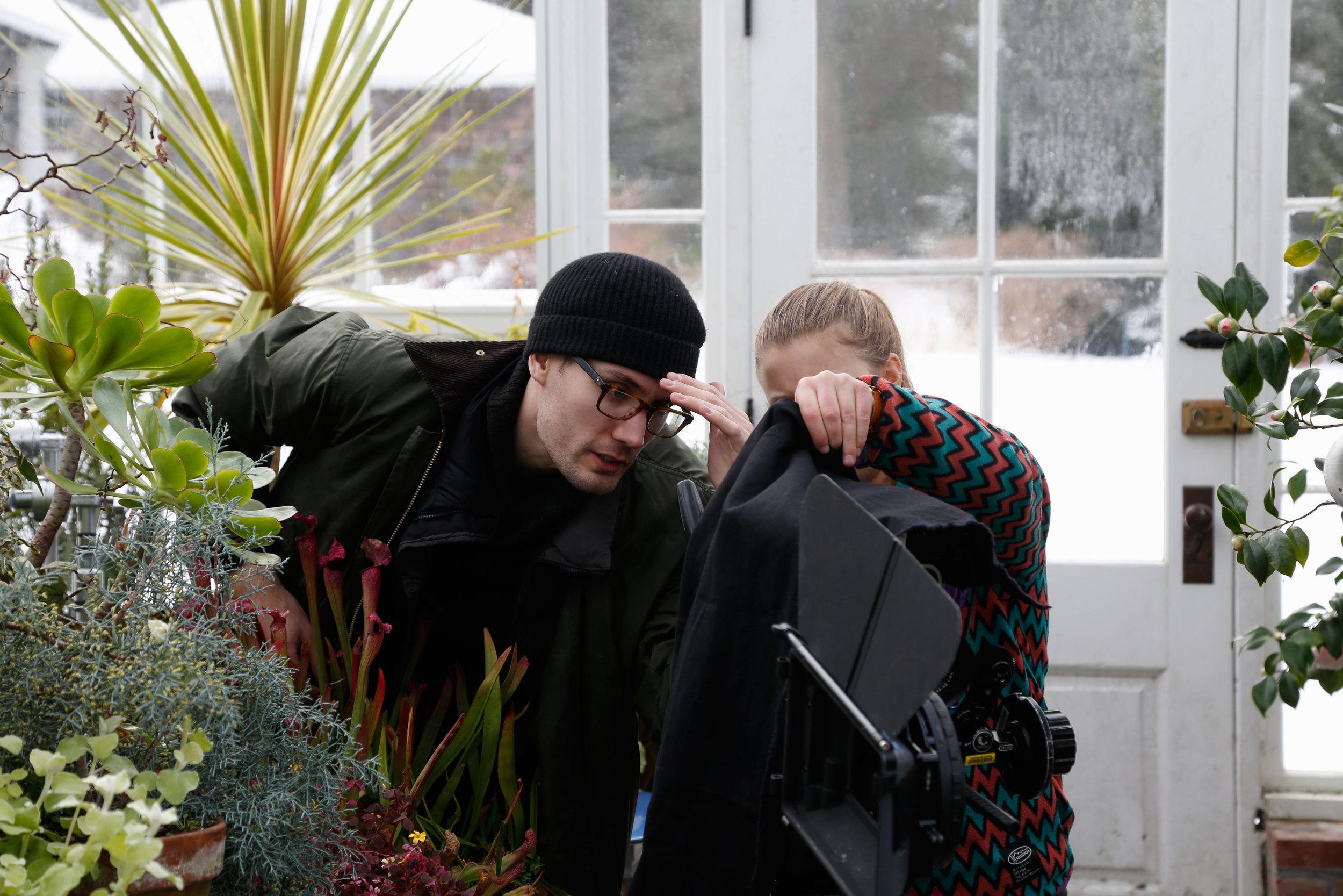 "Director, Joseph Cato at camera.  BTS of ""Newport Manor"" (2015). Written & directed by Joseph Cato."