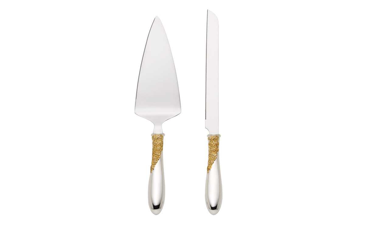 Lenox Marchesa Rose Cake Knife and Server Set