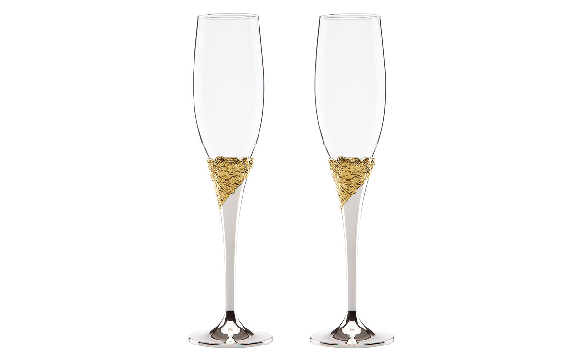 Marchesa Rose 2-piece Toasting Flute Set by Lenox