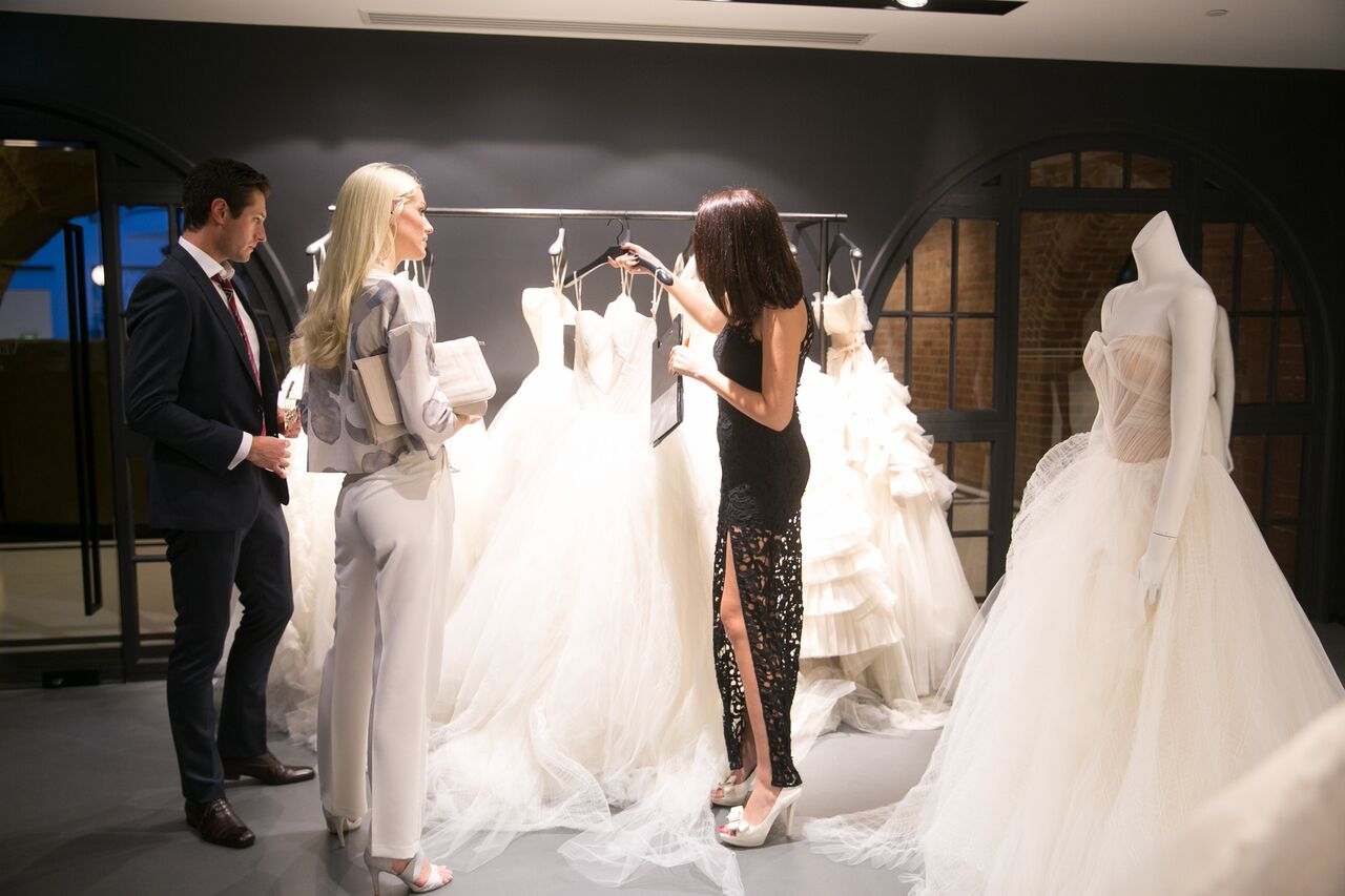 Guests with Vera Wang stylist