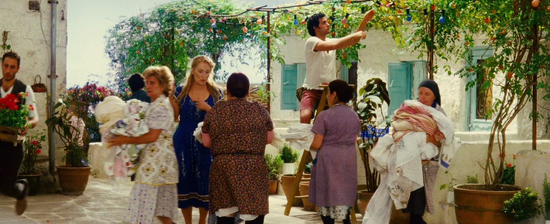 Get organised well before the wedding to avoid last minute rush. Meryl Streep in Mamma Mia setting up her daughters wedding.