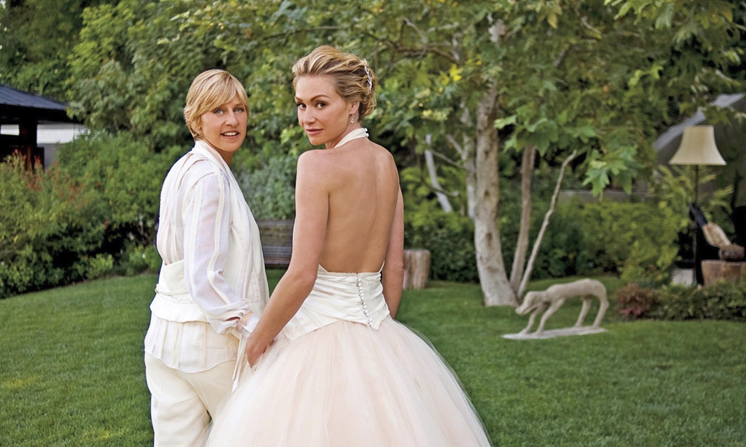Ellen Degeneres & Portia De Rossi| The Guardian