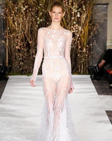 Wedding dress by    Mira Zwillinger  | Photo: Luca Tombolini /  Indigitalimages.com