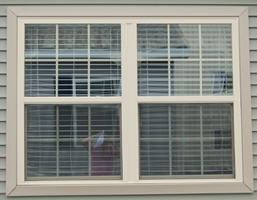 """Optional lineals (available in white or beige; 3"""" around windows, 5"""" around doors)"""
