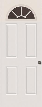 4-PANEL SUNBURST DOOR GLASS: CLEAR OR ODL NOUVEAU