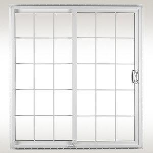 SLIDING PATIO DOOR COLOR: WHITE OR BEIGE GRIDS: OPTIONAL