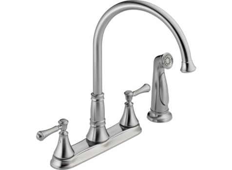 DELTA CASSIDY STAINLESS STEEL KITCHEN FAUCET