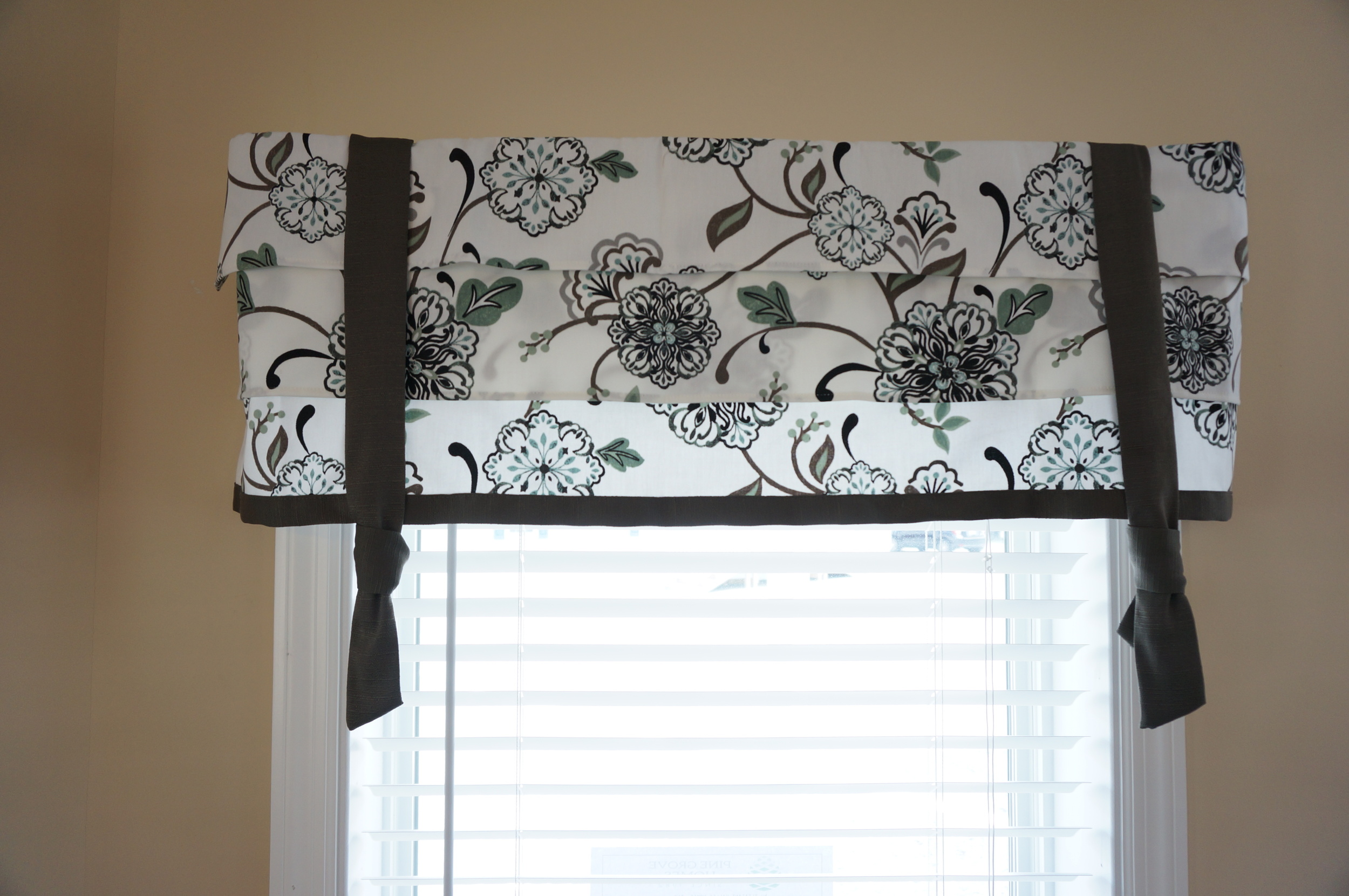 """""""Naples"""" Draperies with Faux Shade Valances"""