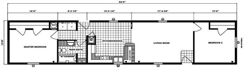 G-570 -14' x 64' - 875 sq. ft.