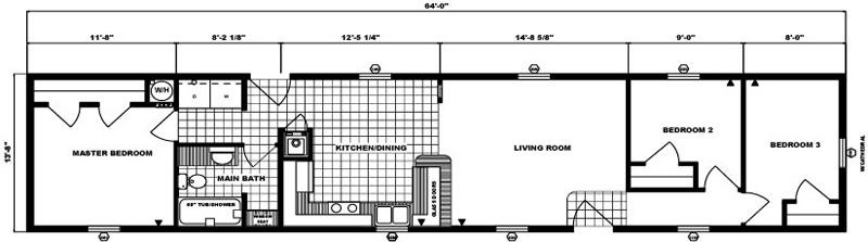 G-571 -14' x 64' - 875 sq. ft.