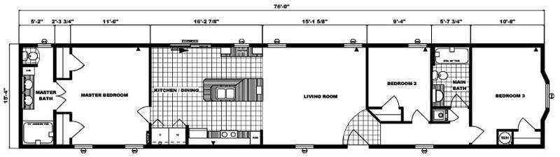 G16-528 -16' x 76' - 1,165 sq. ft.