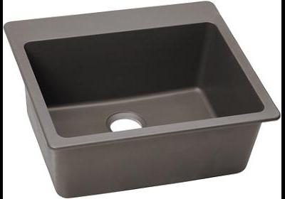 Elkay E-granite 25/22 Single Bowl w/matching drain - Greige