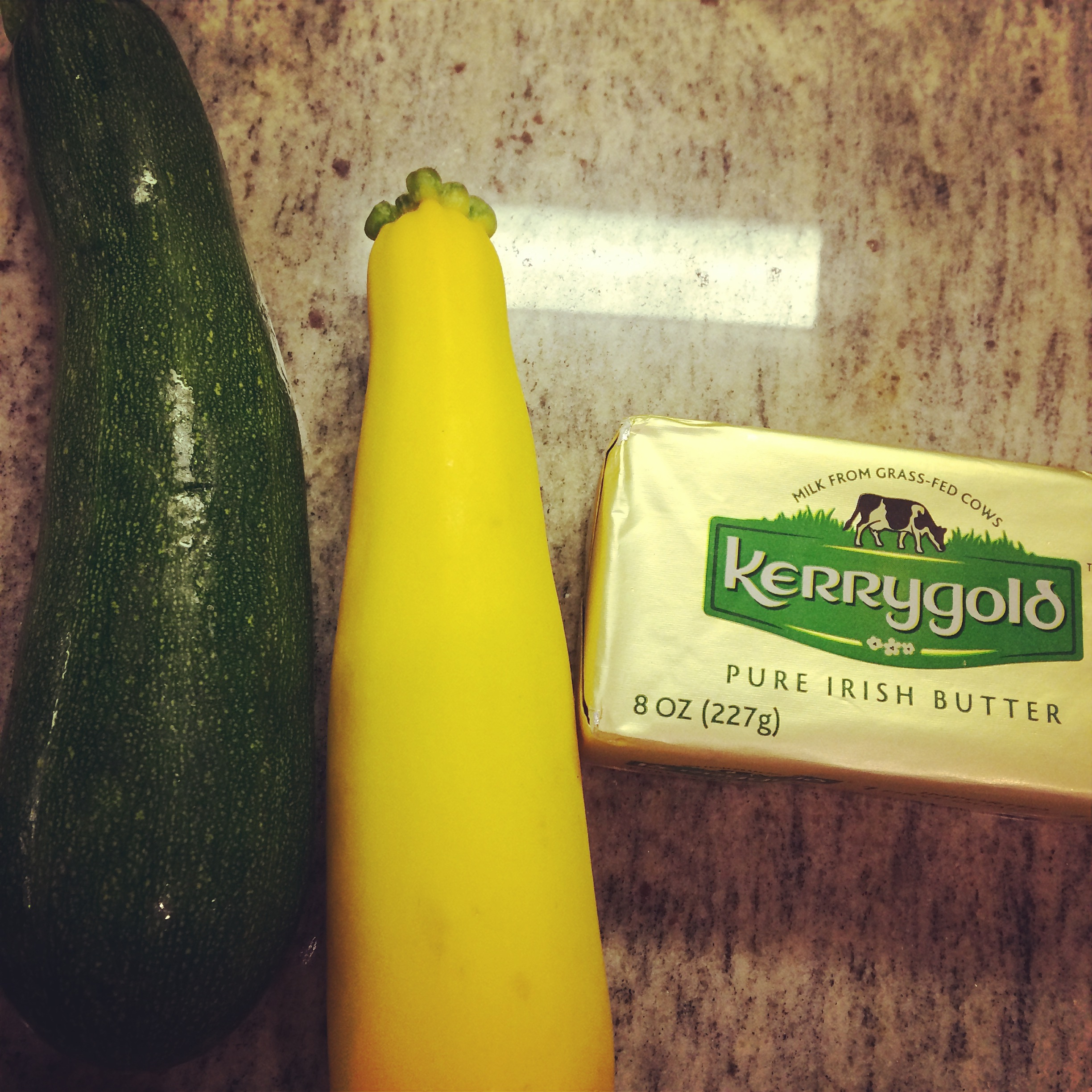 real foods: zucchini, butter