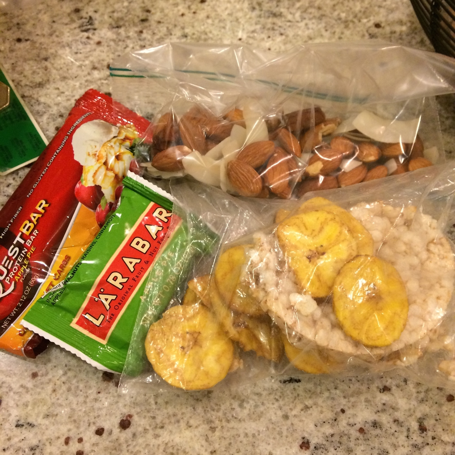 I prefer to overpack snacks so I have options based on my hunger level and I am prepared for whatever my day throws at me!