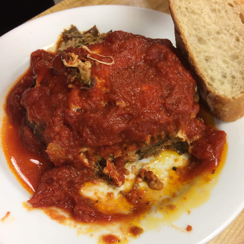 Pasta-free eggplant lasagna