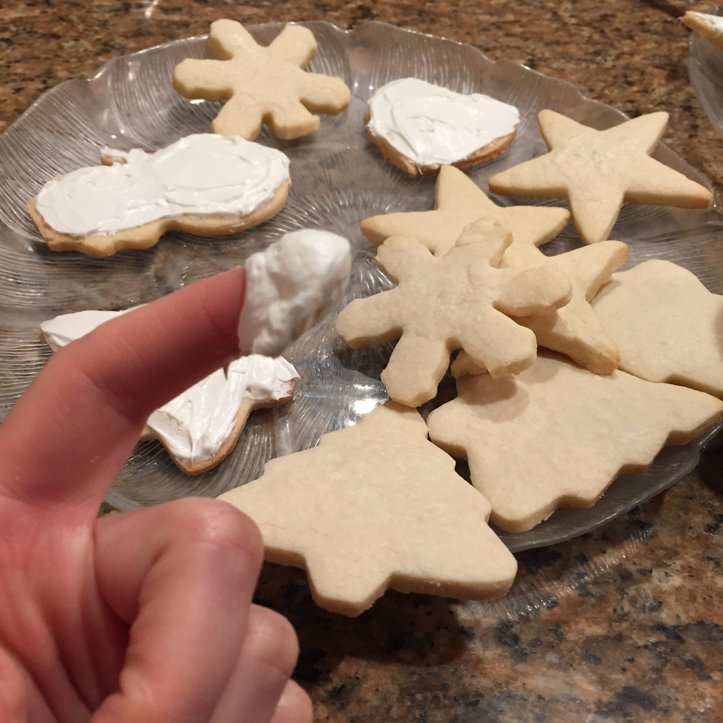 I may not be able to eat the sugar cookies, but I can eat the frosting