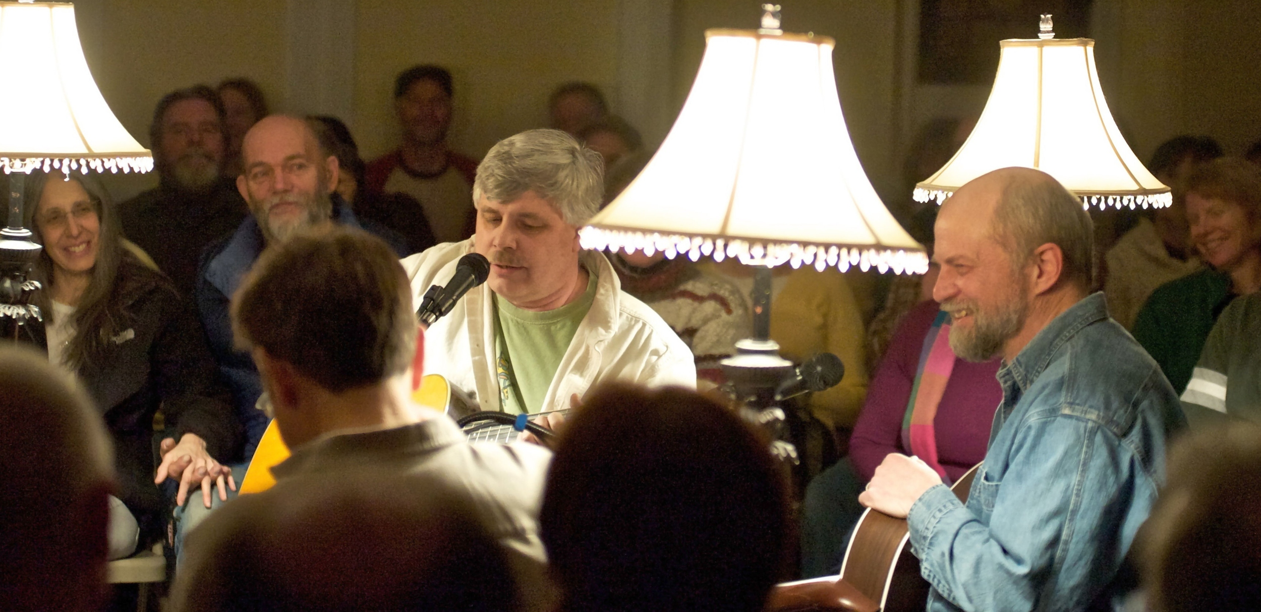 Terry Seeley (singing) & Bruce Hildenbrand (right) 100th show in Jan. 201 [photo:Bob Biamonte]