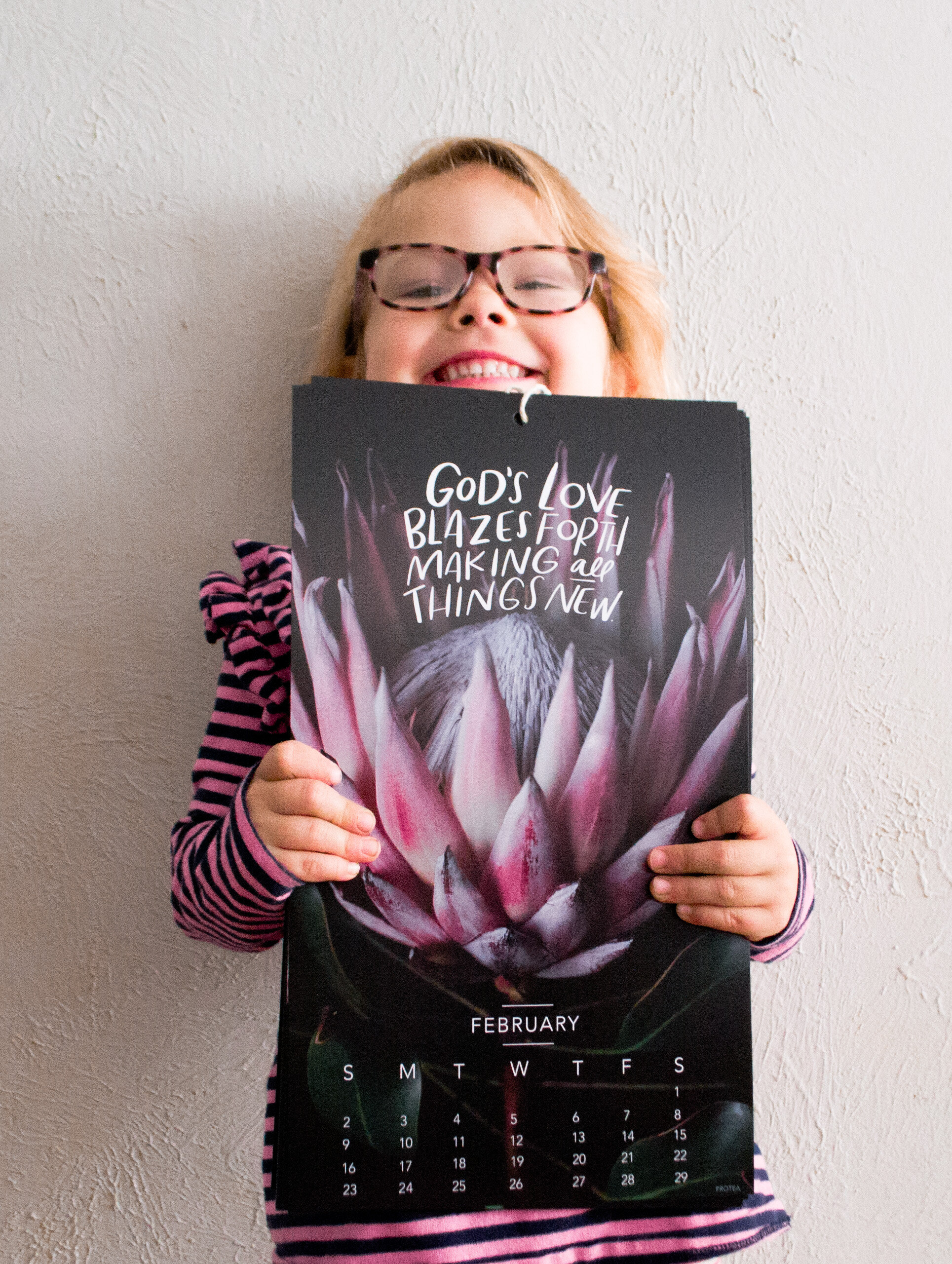 God's love blazes forth making all things new. From the 2020 Floral Wall Calendar: A year for beauty and truth.