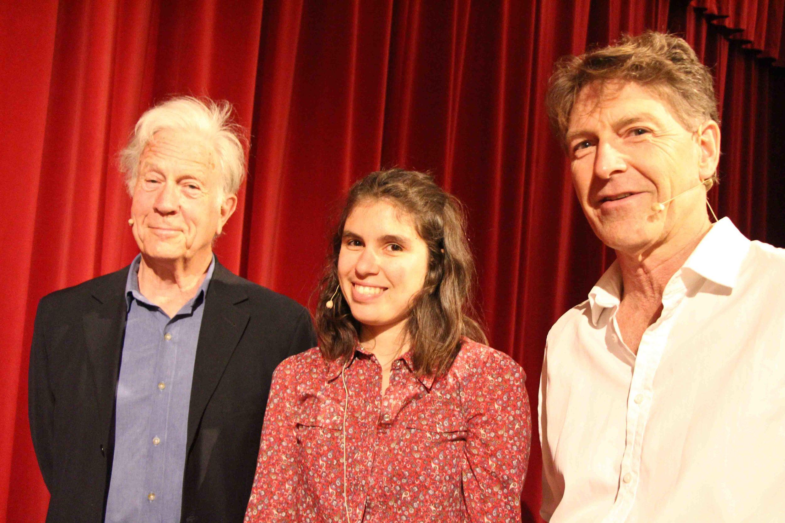 Henry Reynolds, Ellen van Neerven and Steven Lang at Outspoken, photo: Mark Newman