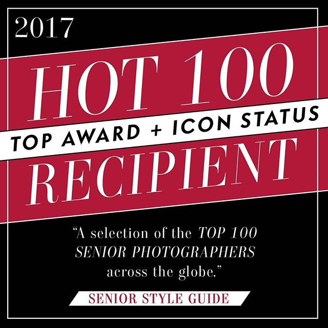 So excited to announce out of over 8000 photos. I placed top 100 in 3 categories against some of the industry's best senior photographers. Allowing me to claim icon status! What a huge compliment to be listed among such talent. Thank you to all of my seniors who trusted me to capture their senior pictures and allow me to submit for publication. The winning images will be featured in the upcoming hot 100 magazine. Thank you @vickiesblack and judges @devonjimagery @thomasnguyenphoto and @truecreativeportraits  #camilledavisphotography #seniorstyleguide #ssgmagazine #hot100 #seniorphotos