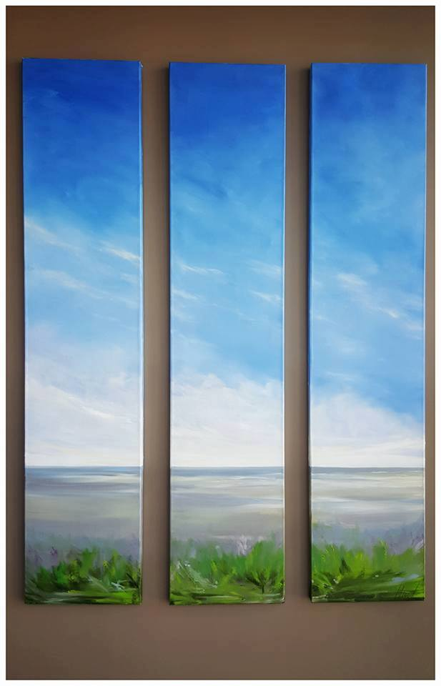 "Commission Triptych, 3 canvas 18""x84"""